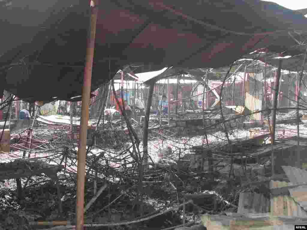 "Market ""Korvon"" after fire, Dushanbe, 13Aug2008"