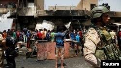 Bagdada edilen bombaly hüjümleriň biri.