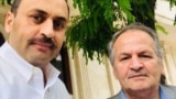 Afghan writer and researcher Najib Mayel Heravi (right) with his son Shahab Heravi. (file photo)