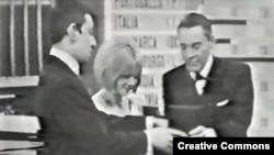 Frans Gal na takmičenju Evrovizije 1965, arhivska fotografija