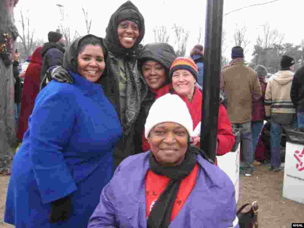 Rosie Williams and four friends came by bus from their homes in east Texas to be part of the celebrations. - United States -- Rosie Williams and four friends, shown here at the inaugural concert on the National Mall, came by bus from their homes in east Texas to be part of the nation's celebration of Barack Obama's inauguration as president. 19Jan2008 Obama20