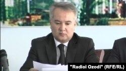 Насим Олимзода, вазири тандурустии Тоҷикистон.