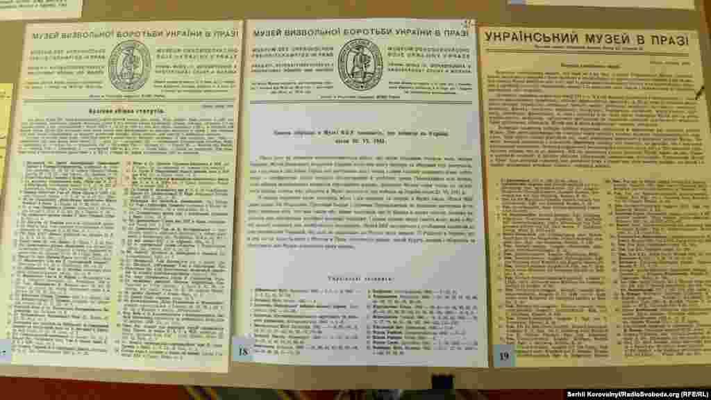 Видання про Музей визвольної боротьби України у Празі