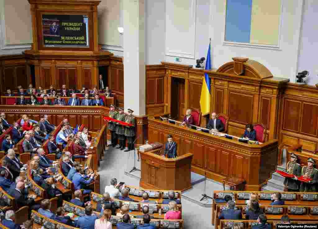 """In his inaugural speech, the former comedian said he will try to ensure that """"Ukrainians do not cry"""" during his term in office."""