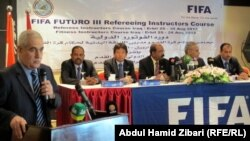 مؤتمر صحفي بمناسبة افتتاح الدورة التدريبية في اربيل