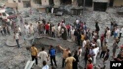 Сириянын түндүктөгү Ракка шаарынан бир көрүнүш. 7-август, 2013-жыл.