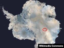 Lokacija jezera Vostok na Antartiku