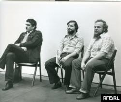 Сергей Довлатов, Александр Генис, Петр Вайль. Нью-Йорк, 1979 (фото Нины Аловерт)