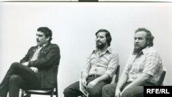 Сергей Довлатов, Александр Генис, Петр Вайль. Нью-Йорк, 1979 г. Фото Н. Аловерт