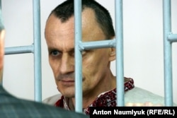Микола Карпюк під час засідання суду у Грозному. 18 травня 2016 року