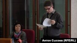 Екатерина Вологженинова и ее адвокат Роман Качанов