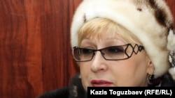Адвокат Светлана Мурзина, защищающая осужденного Алдаяра Исманкулова, в апелляционном суде по делу об убийстве Геннадия Павлюка. Алматы, 18 января 2012 года.
