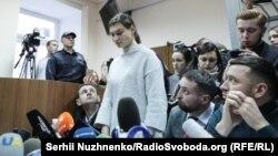 Яна Дугарь під час судового засідання у грудні 2019 року