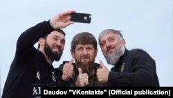 Магомед Даудов, Рамзан Кадыров, Адам Делимханов (слева направо), архивное фото