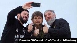 Спикер ЧР Магомед Даудов, глава ЧР Рамзан Кадыров, депутат Госдумы от ЧР Адам Делимханов (слева направо)