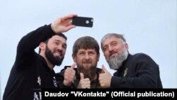 Магомед Даудов, Рамзан Кадыров, Адам Делимханов (слева направо)