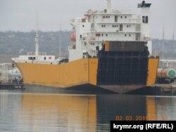Іноземні судна у порту Керчі, 2 березня 2015 року