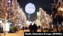 Новогодишно украсено Скопје