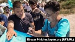 День крымскотатарского флага в Бахчисарае