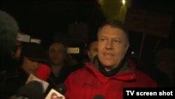 Președintele Klaus Iohannis la protestele antiguvernamentale de la București