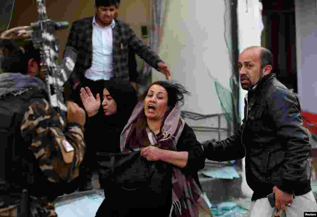 A survivor reacts at the site of a bombing in Kabul. (Reuters/Mohammad Ismail)