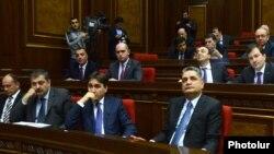Arxiv fotosu. Ermənistan parlamenti.