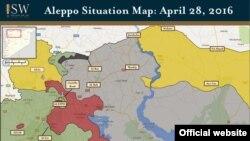 رنگ زرد مناطق تحت کنترل کردهای سوری است. ترکیه پیشتر به کردها هشدار داده بود از فرات رد نشوند اما آنها پس از آن شهر منبج را نیز به تصرف خود درآوردند.