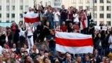 Акция протеста в Минске, 14 августа 2020 года.