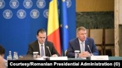 Klaus Iohannis, alături de premierul Ludovic Orban