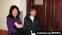 Ірыну Васільеву, маці Рамана Васільева, і актывістку Касю Галіцкую не пусьцілі на пасяджэньне суду.