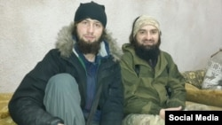 Chechen IS militant Alikhan (left) was 23 when he was killed. He had a little fighting experience -- IS sent him to fight in Kobani in Syria. He survived that, but he didn't survive in Iraq.