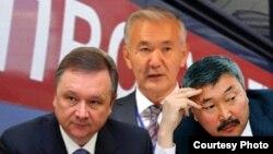 Мурдагы депутат Карганбек Самаков, мурдагы премьер-министр Игор Чудинов жана мурдагы вице-премьер Искендербек Айдаралиев.