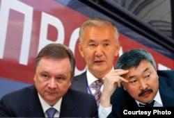 Обвиняемые по делу незаконной трансформации земель Игорь Чудинов, Искендербек Айдаралиев и Карганбек Самаков.