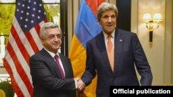 Սերժ Սարգսյանի և Ջոն Քերրիի հանդիպումը Վիեննայում, 16-ը մայիսի, 2016թ.
