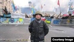 Сергій під час Євромайдану