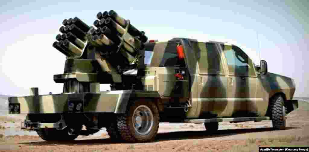 Reaktiv yaylım atəş sistemi - 107 mm., atış mənzili 11 km.