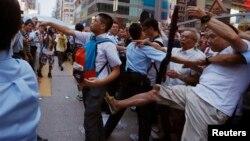 Беспорядки в Гонконге 3 октября.
