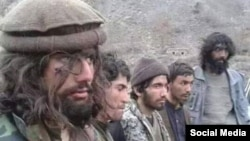 Purported IS fighters that the Taliban claim to have captured in Nangarhar.