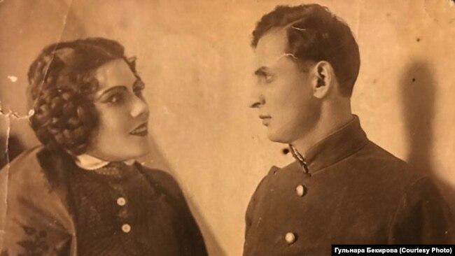 Айше Диттанова с мужем, артистом Меджитом Асановым