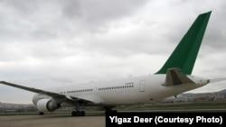 "Türkmenistanyň Belarusa satan ""Boeing-767"" kysymly uçary"