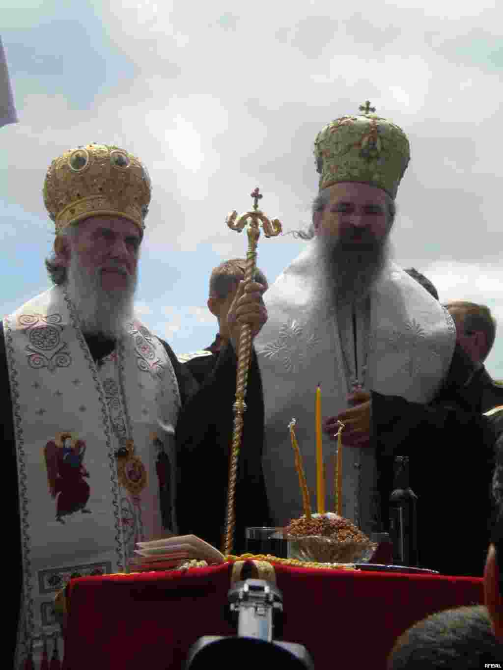Serbian Patriarch Irinej attends a ceremony marking the historic battle in Gazimestan in 2010.