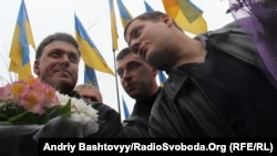 Андрій Іллєнко (праворуч) і Олег Тягнибок