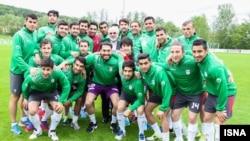 دیدار محمدجواد ظریف وزیر خارجه ایران از اردوی تیم ملی فوتبال در اتریش