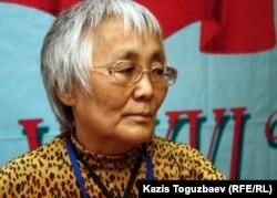 Сахиб Жанабаева, лидер Рабочего движения Казахстана. Алматы, 27 марта 2012 года.