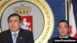 President Saakashvili (left) named Gurgenidze to head a financial commission.