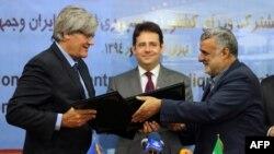 وزیران کشاوری ایران (راست) و فرانسه