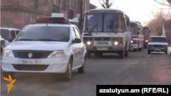 Armenia - Busloads of police arrive in Gyumri, 19Jan2015.