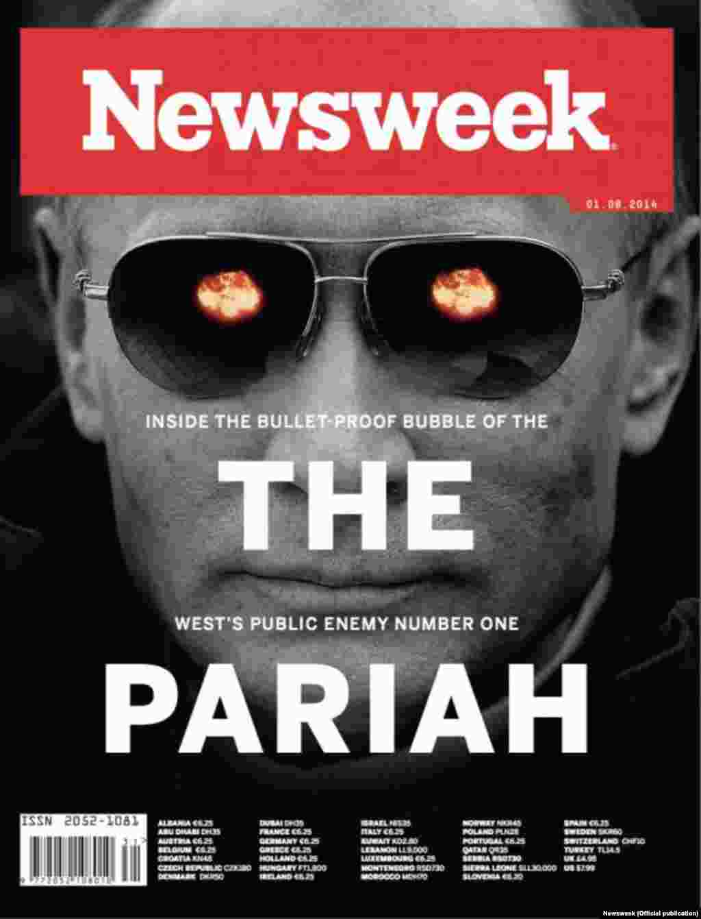 "For ""Newsweek,"" Putin is the ""West's public enemy number one."""