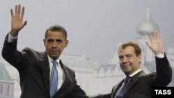 U.S. President Barack Obama (left) and his Russian counterpart Dmitry Medvedev in Moscow -- a partnership based on mutual interests without really embracing each other as strategic partners?