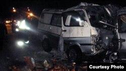 Эки кичиавтобус кагылышкан кырсык. 26-ноябрь, 2015-жыл